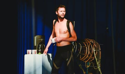 Tom Mumford as the Centaur