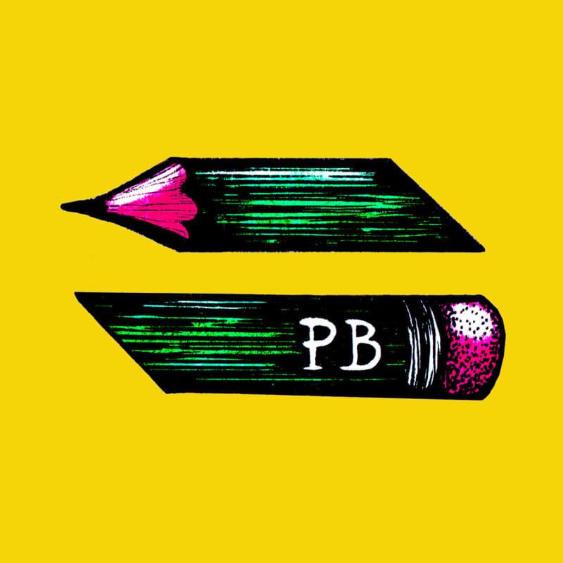 An illustration of a broken pencil