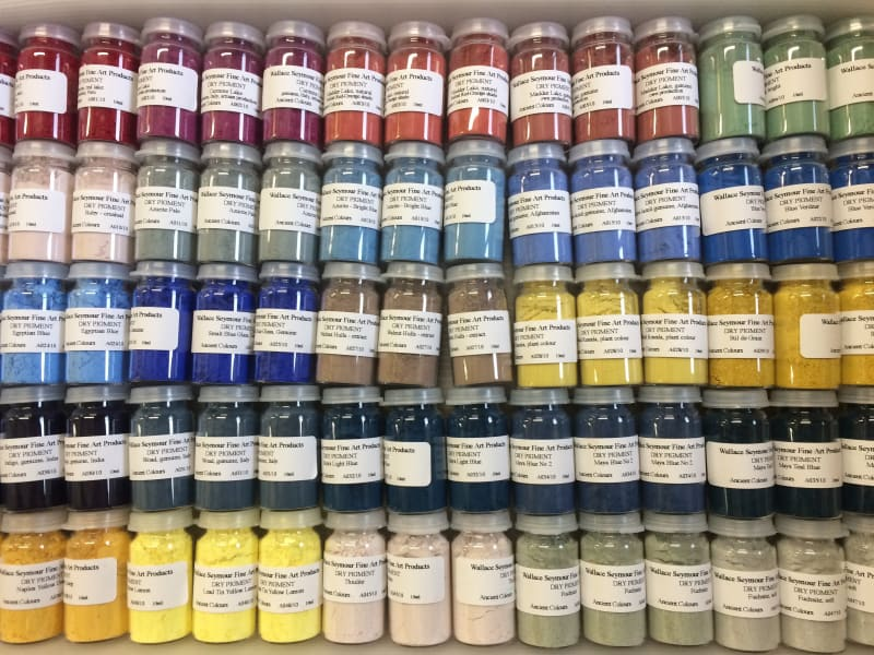 Dry artists pigments