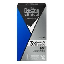 Antitranspirante Rexona clinical clean en crema para caballero 48 g