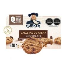 Galletas de avena Quaker chocolate 6 paquetes de 40 g c/u