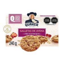 Galletas de avena Quaker con frutos rojos 6 paquetes de 40 g c/u