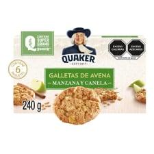 Galletas de avena Quaker con manzana y canela 6 paquetes de 40 g c/u