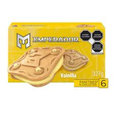 Galletas Emperador tipo sándwich sabor vainilla 327 g