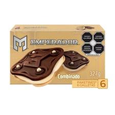 Galletas Emperador tipo sánwich combinado 327 g