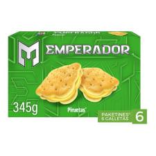 Galletas Emperador Piruetas tipo sándwich sabor limón 6 paketines de 57.5 g c/u