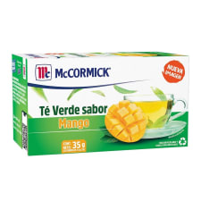 Té verde McCormick sabor mango 25 pzas