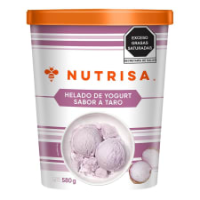 Helado de yogurt Nutrisa sabor taro 1 l