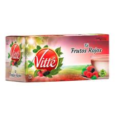 Té de frutos rojos Vitte 25 sobres de 2 g c/u