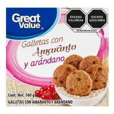 Galletas Great Value con amaranto y arándano 100 g