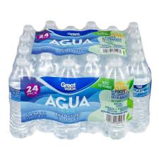 Agua purificada Great Value 24 botellas de 500 ml c/u