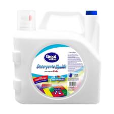 Detergente líquido Great Value para ropa de color 7 l