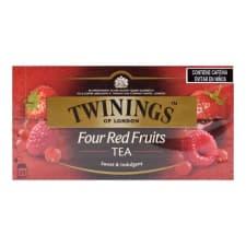 Té negro Twinings 4 frutas rojas 25 sobres de 2 g c/u