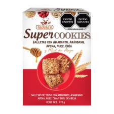 Galletas Taifelds Super Cookies con semillas y miel de abeja 12 galletas en paquetes de 3 pzas c/u