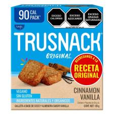 Galletas Trusnack Tega cinnamon vanilla 4 paquetes de 30 g c/u