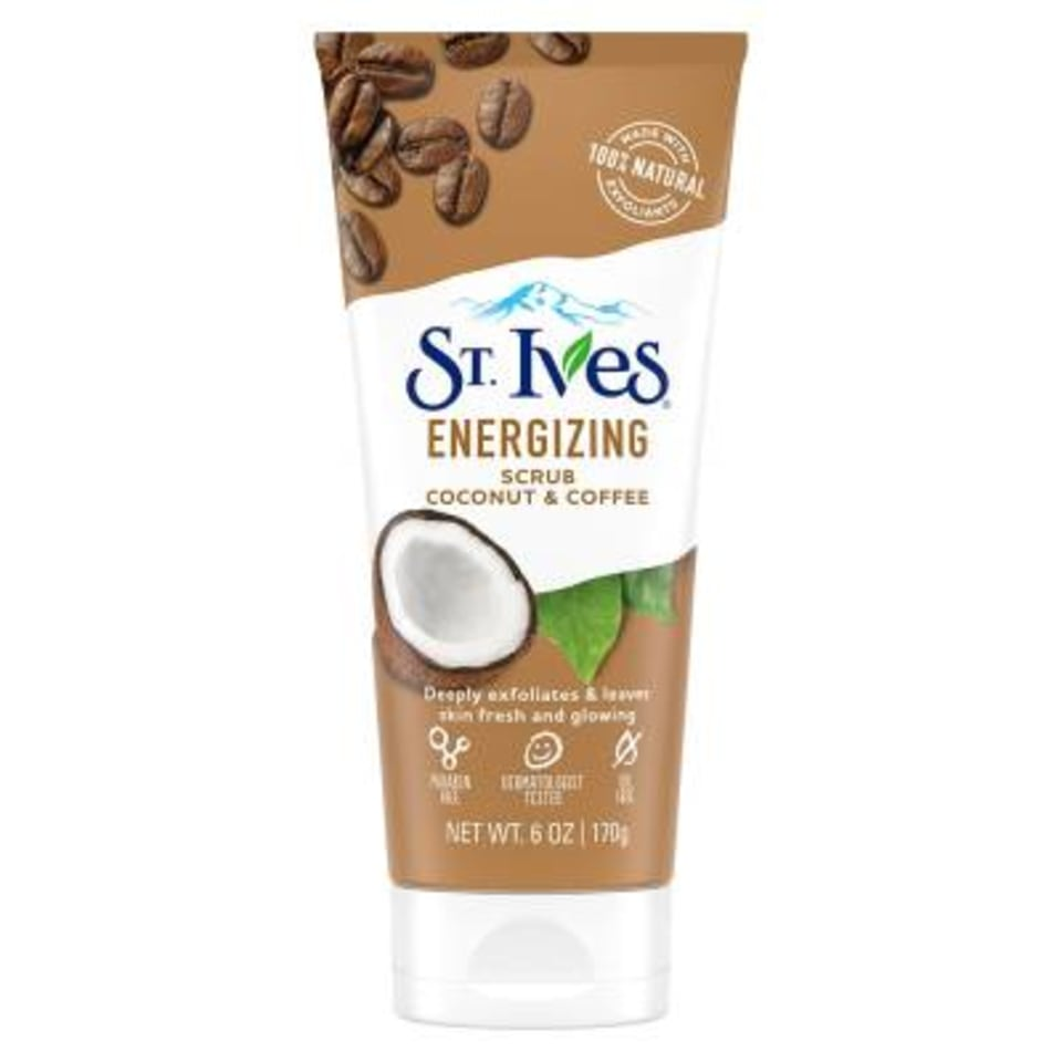 Exfoliante facial St Ives energizing scrub coconut and coffee 170 g   Walmart