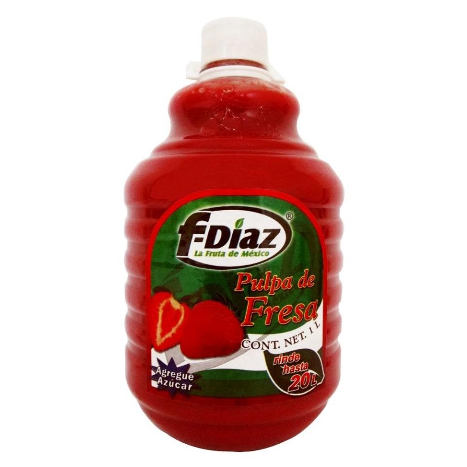Concentrado Para Bebida F Díaz Sabor Fresa 1 L Walmart