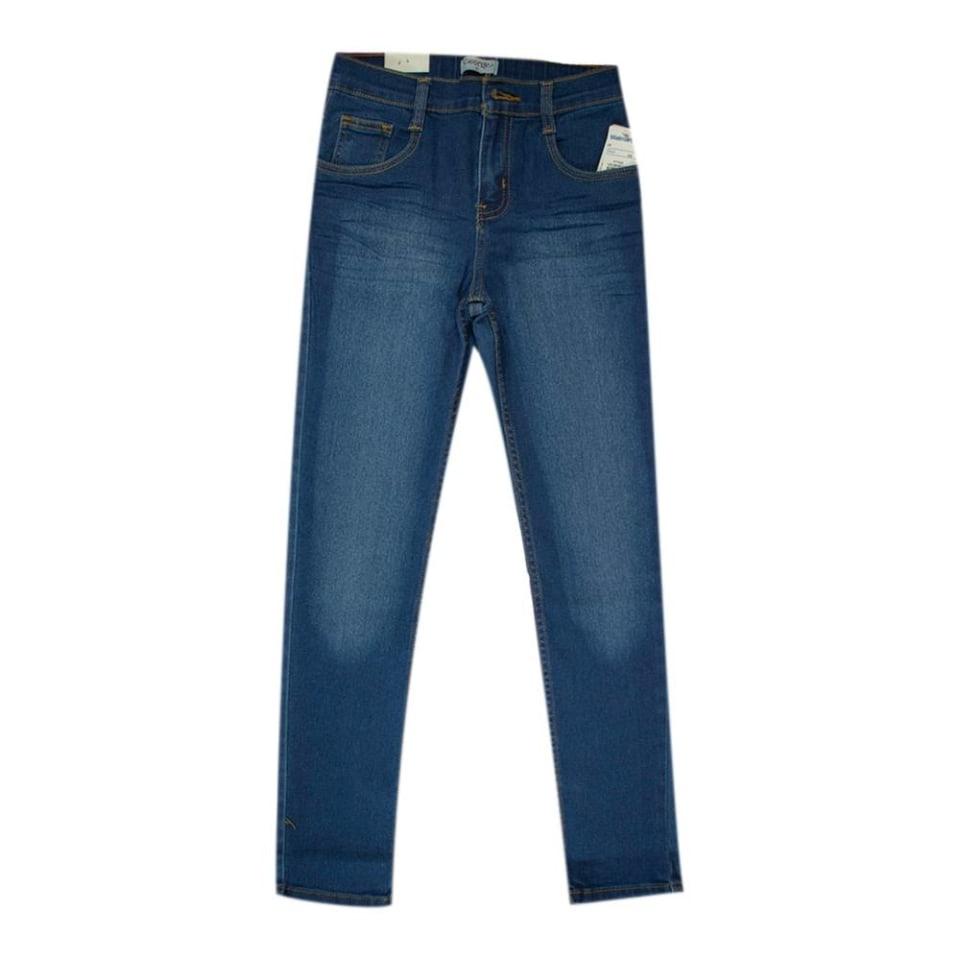 Twiggy en M/&S Elástico Tela de Jeans CALZAS ~ Talla 24 Med ~ Indigo