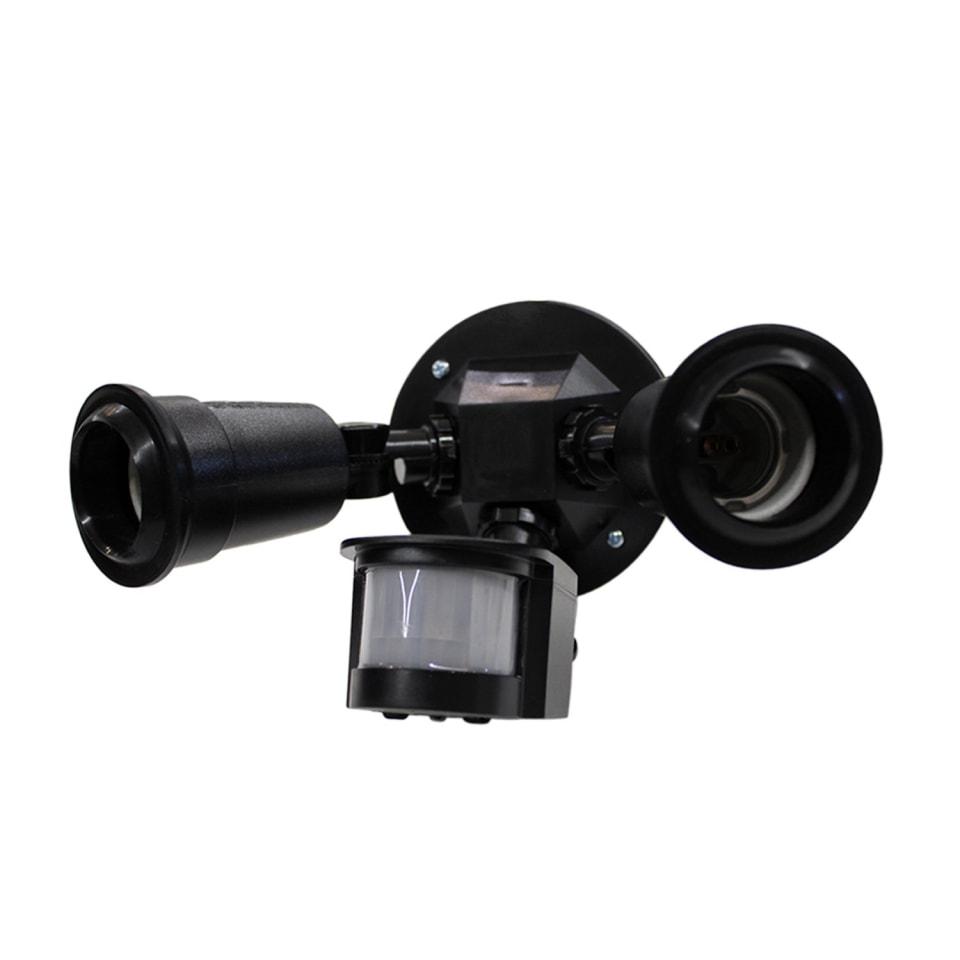 Lampara De Seguridad Con Sensor De Movimiento Infrarrojo 180 Con 2 Sockets E27 Para Exteriores Illux Se 2103 N Walmart En Línea
