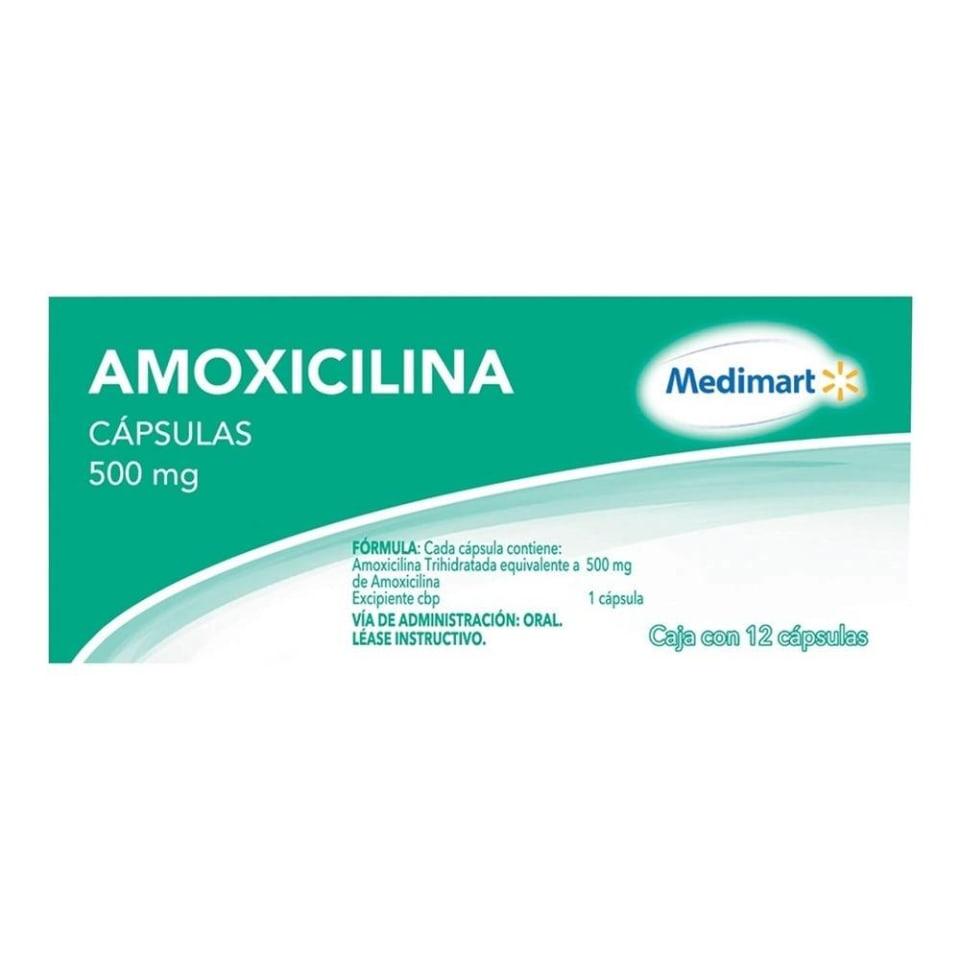 Amoxicilina Medimart 500 Mg 12 Capsulas Walmart