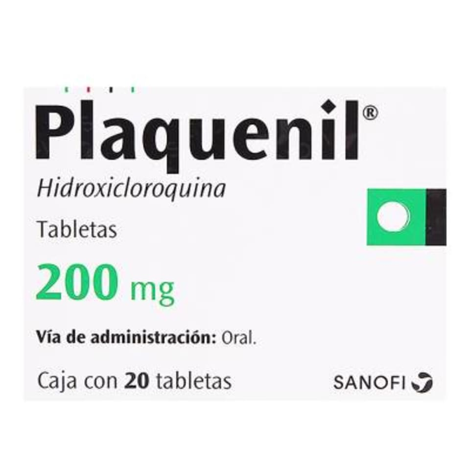 Plaquenil 200 mg 20 tabletas