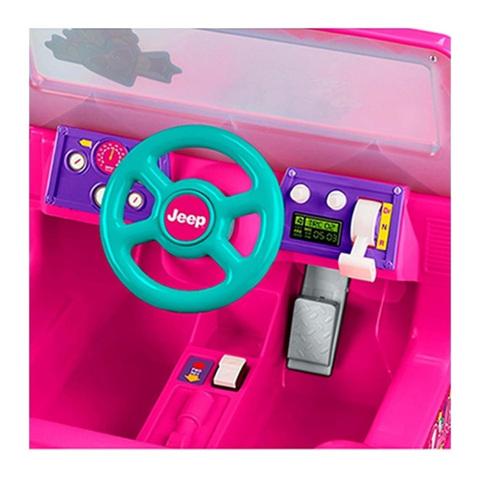 Montable Electrico Power Wheels Barbie Jeep Wrangler 6 Volts Rosa Walmart En Linea