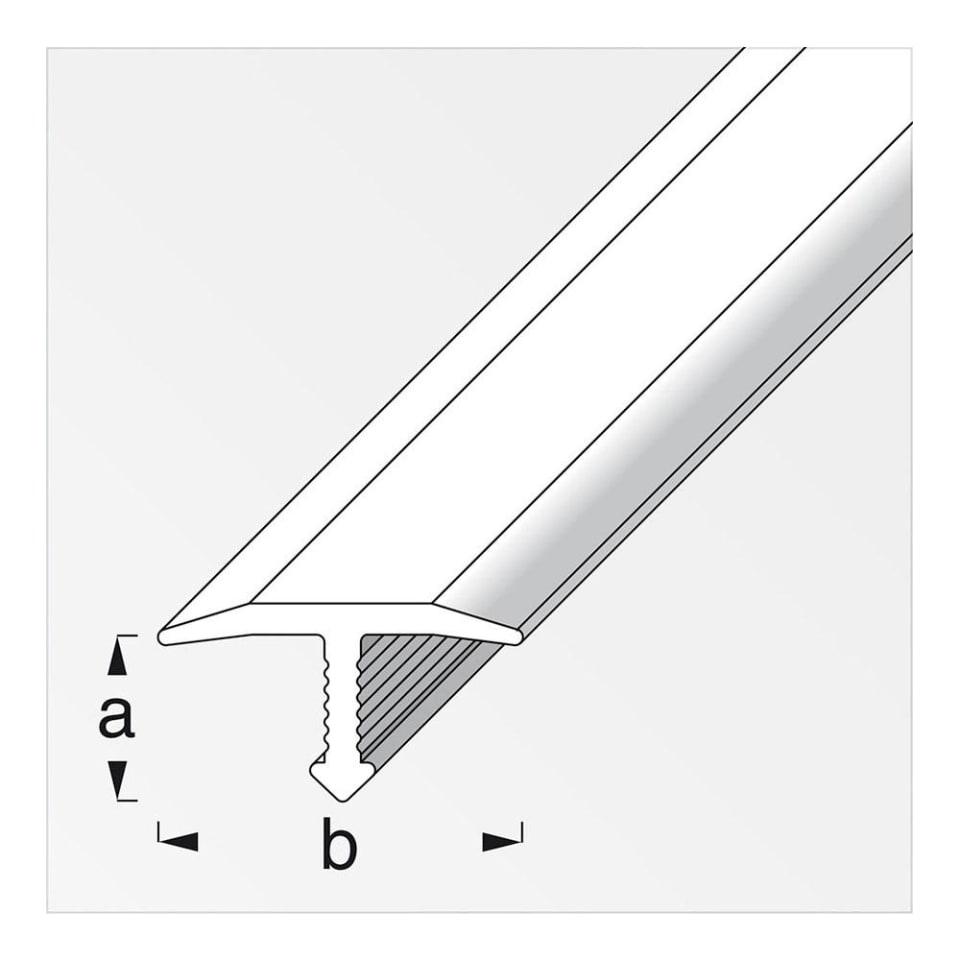 Perfil T Tapajuntas Alfer 25x6 mm Aluminio Plata | Walmart en línea
