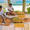 Couples beach massage