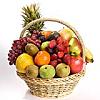 Fresh fruit basket to enjoy under some palm trees