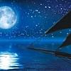 Schooner Western Union Full Moon Sail