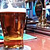 Grabbing a pint in a British pub