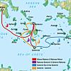 Flight from Santorini to Athens