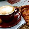 relaxing breakfast in Italy