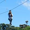 Honeymoon: Ziplining at Monkey Jungle for Jenna's birthday!