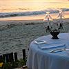 Candlelit dinner on the beach