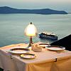A sunset dinner