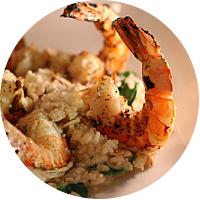 Risotto and prawns, Osteria Da Alberto