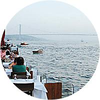 A meal along the Bosporus