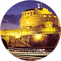 Cruise along the Tiber River