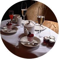 Champagne breakfast in Boston