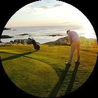 Accommodation on Lofoten Golf Links golf course