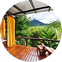 Volcano-side Resort!