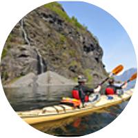 Kayaking on Aurlandsfjord