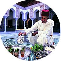 Take tea in the Riad Yima