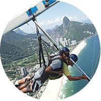 Hang-gliding over Rio