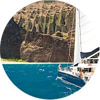 Snorkle cruise tour of the Na'Pali coast