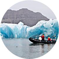 Boat tour of Jokulsarlon Glacier Lagoon
