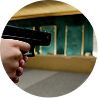 Shooting at the Gun Range