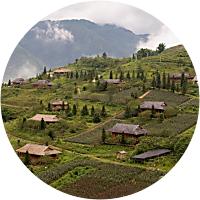 Trek to a local minority village outside Sapa