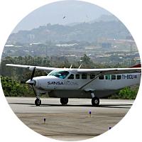 Internal flight from Quepos to San Jose